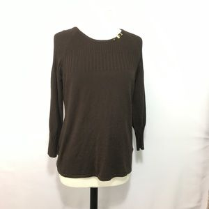 Peck & Peck brown long sleeve sweater size Xl